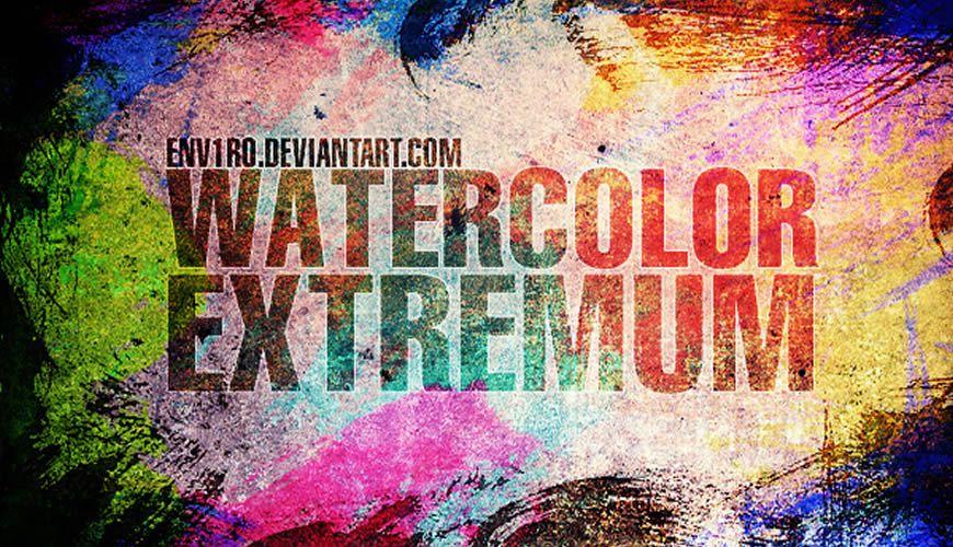 فرش فوتوشوب ألوان مائية مائية إكستريموم