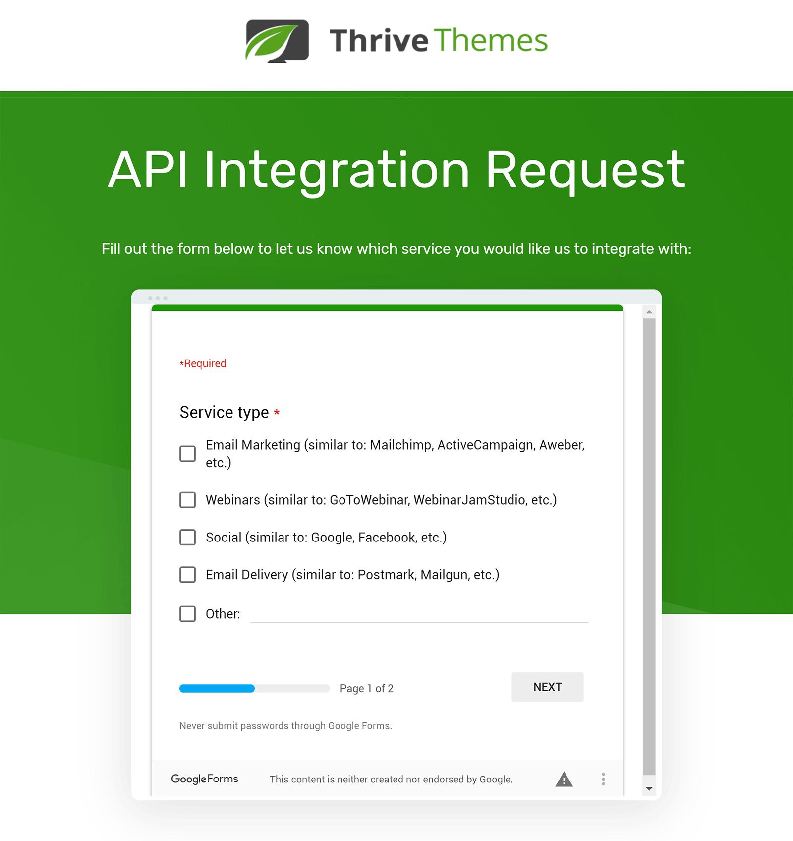 API inteqrasiya tələbi