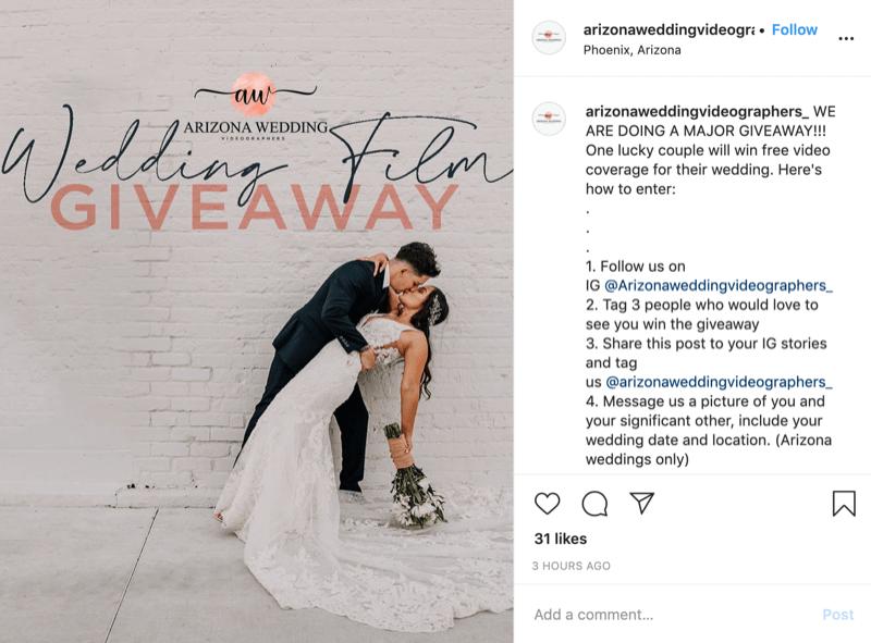 yarışma nümunəsi Instagram ən yüksək qiymət mükafatı ilə