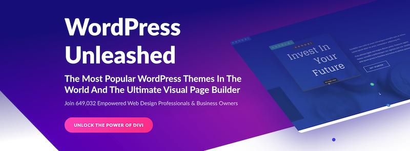 Divi es el segundo generador de páginas más popular para WordPress