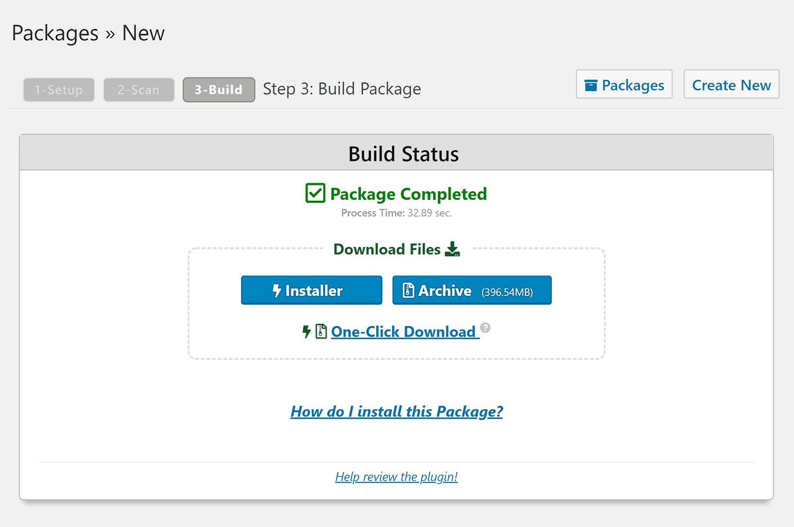 Dublikat paketi tamamlandı