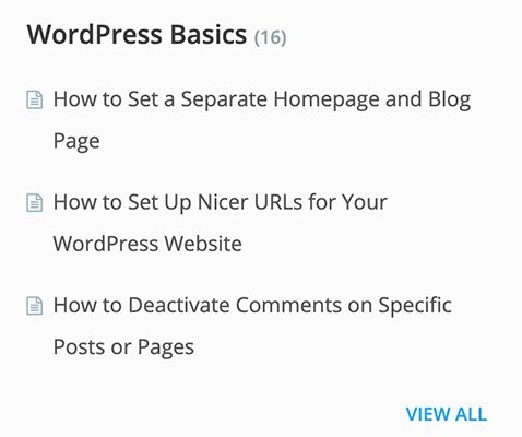 prospérer kb wordpress basics