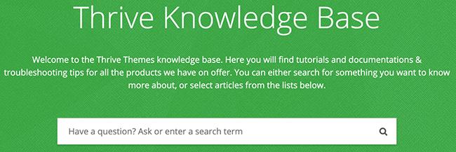 prospérer la base de connaissances 1