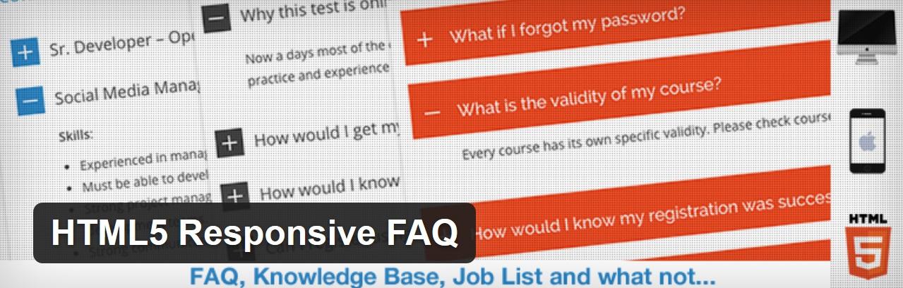 HTML5 Cavablı FAQ plaginidir