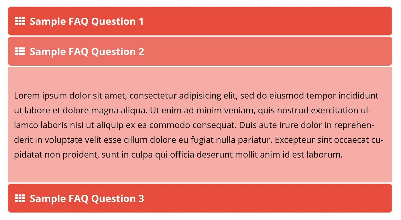 """Bir akkordeon FAQ FAQ """"width ="""" 1400 """"height ="""" 768 göstərən ekran görüntüsü"""