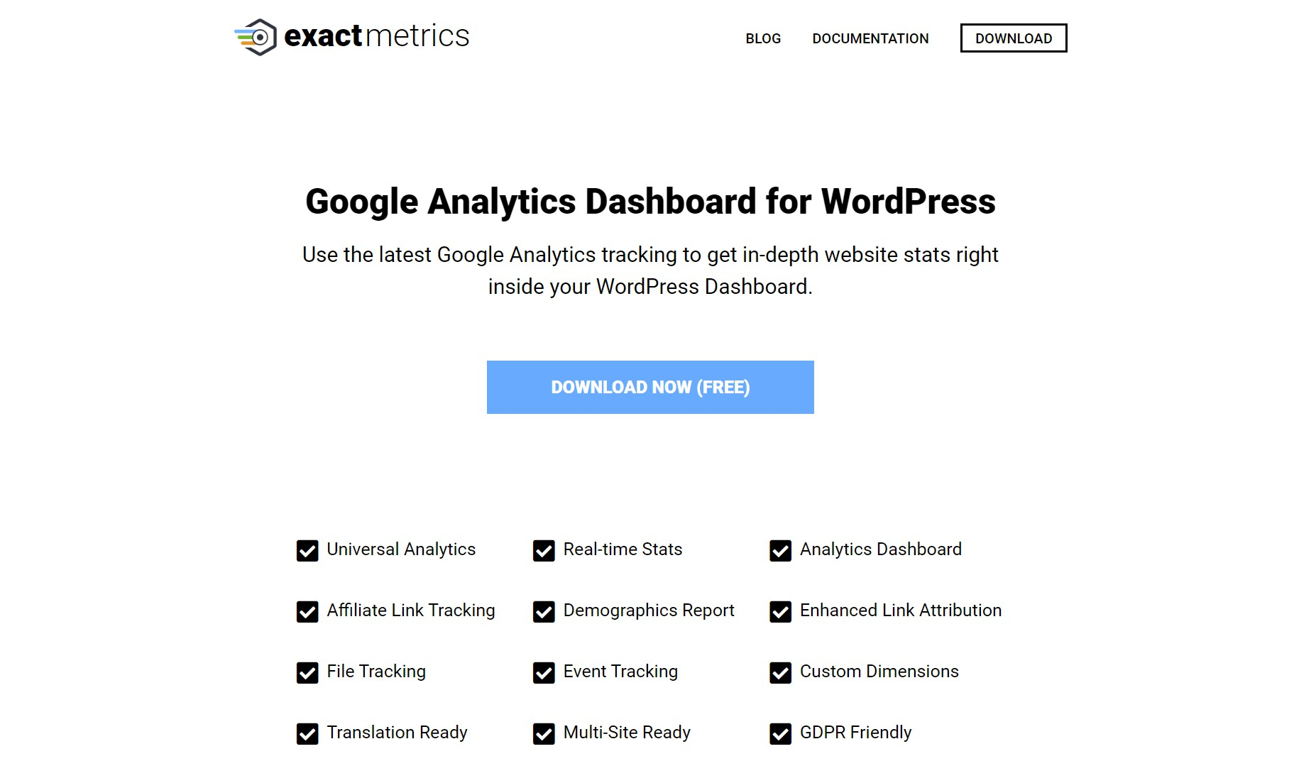 ExactMetrics WordPress Plugin