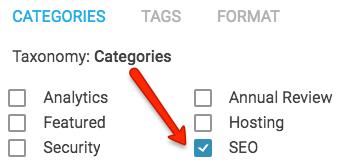 categorías específicas