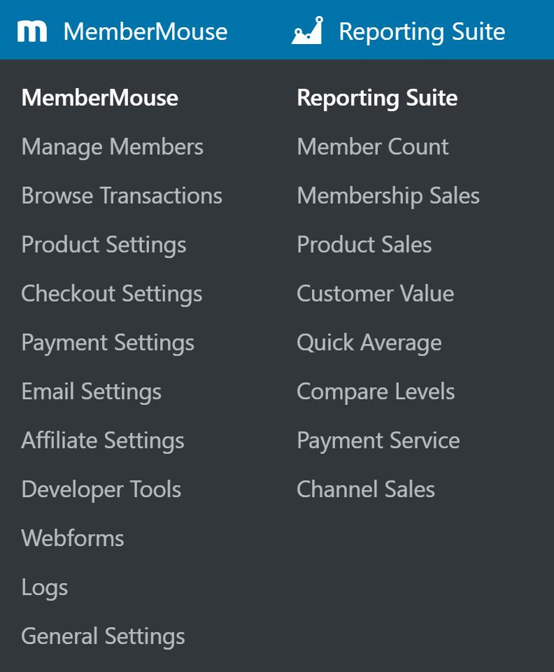 MouseMouse idarəetmə menyuları