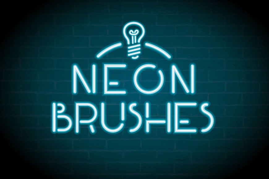 Free Photoshop Brushes with Neon Stripes Effect
