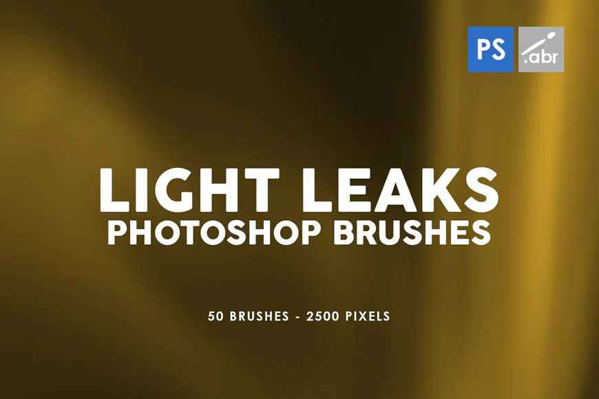 Light Leaks Strip Effect Free Photoshop Brushes