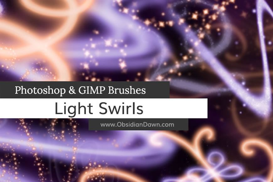 Free Photoshop Light Swirl Effect Brush