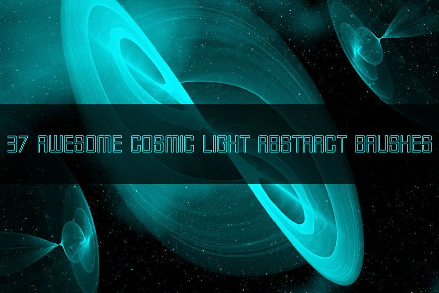 Free Cosmic Light Photoshop Brushes with Light Streaks Effect
