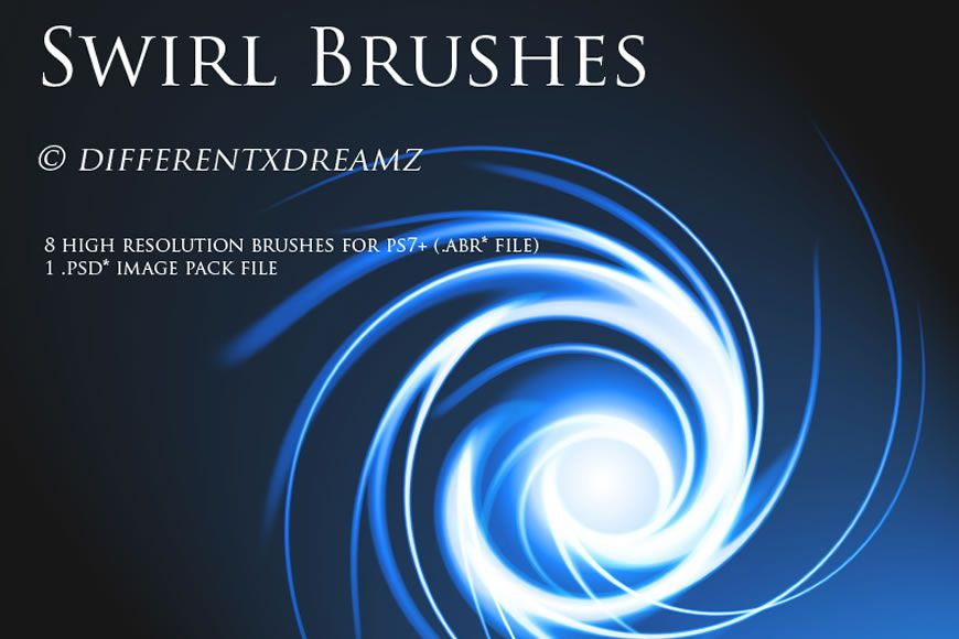 Free Photoshop brushes with an abstract stripes effect