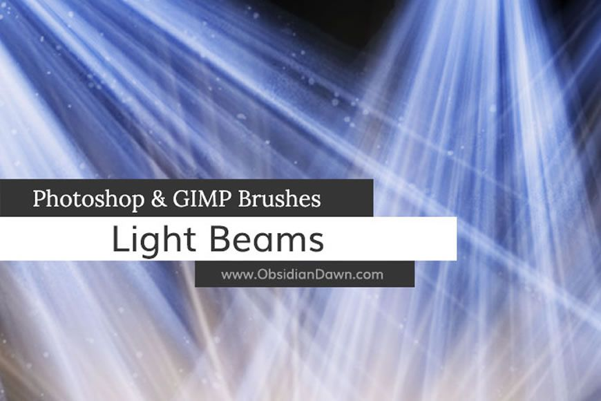 Light rays and light rays create Photoshop brushes