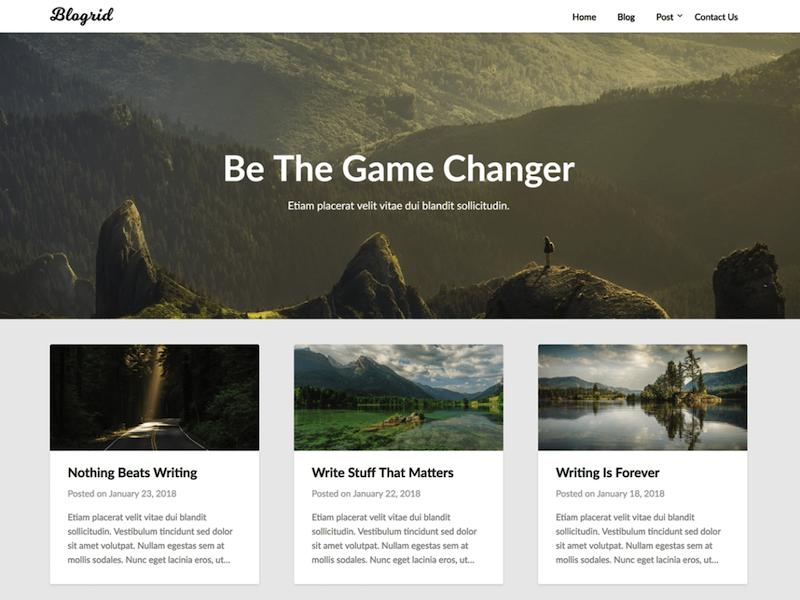 El tema de Blogrid WordPress es el número 3 cuando se trata de temas preparados para el futuro