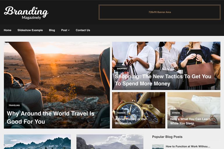 Magazinely WordPress mövzusu yükləmək üçün pulsuzdur