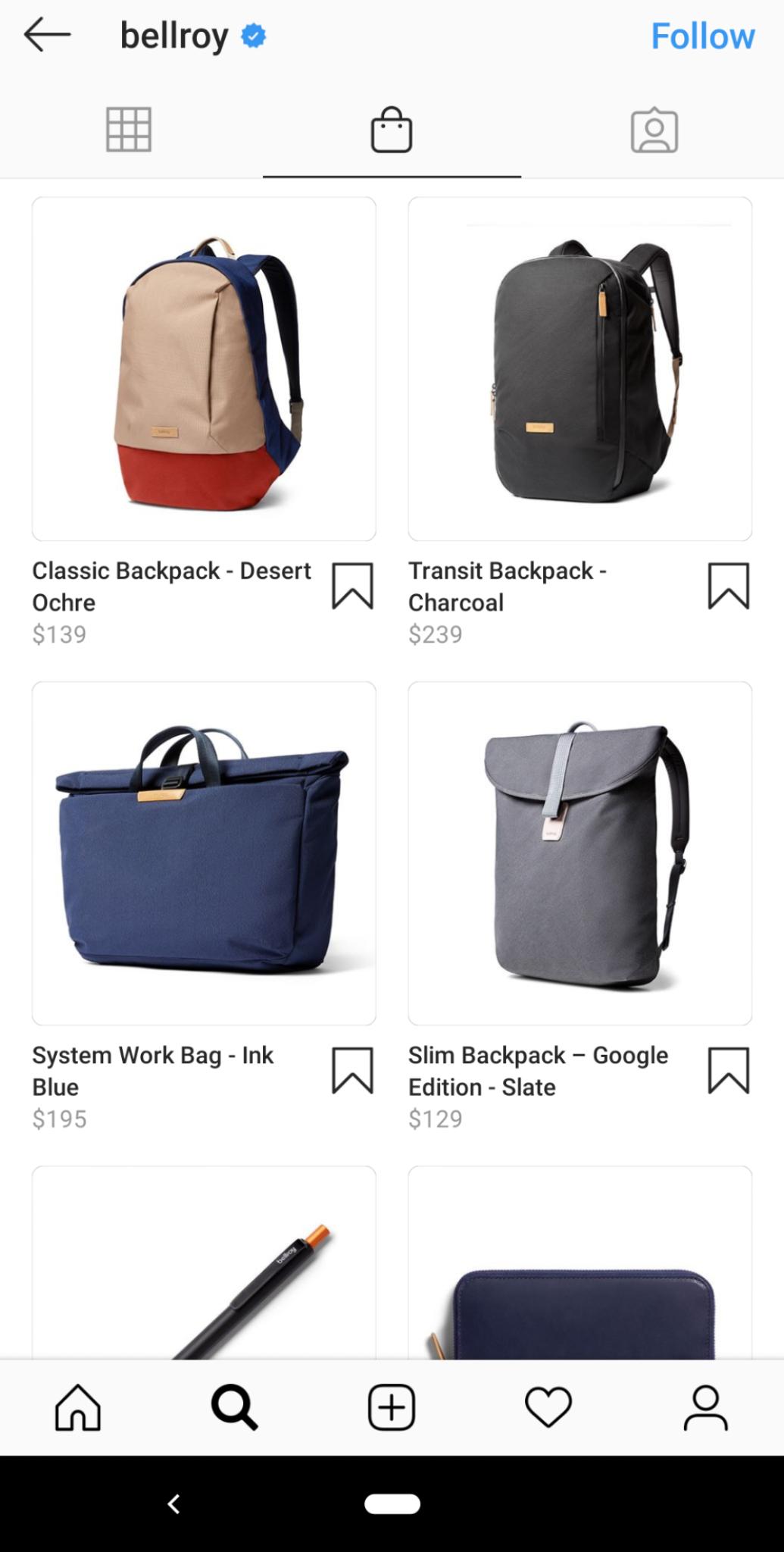 Las compras en Instagram también se pueden hacer directamente desde el ícono de compras