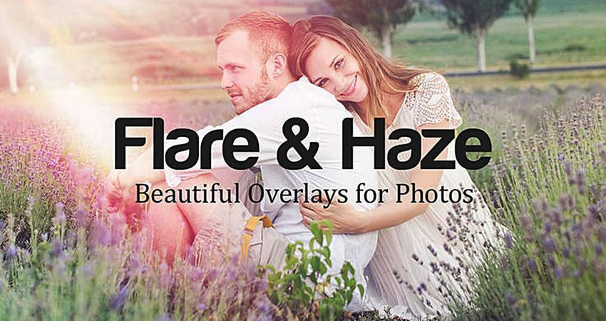 Flare Haze Texture Overlays Efectos de fotografía
