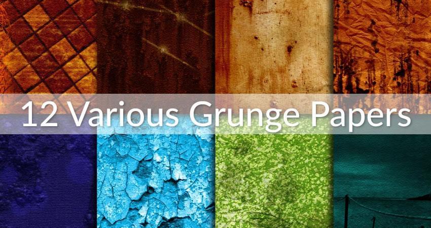 Varios efectos de fotografía de superposiciones de papel de grunge