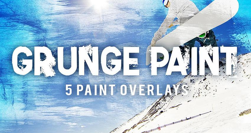 Textura de pintura Grunge superpone efectos de fotografía
