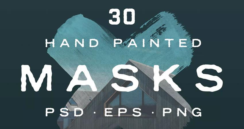 Efectos de fotografía de formas de máscara de foto pintadas a mano