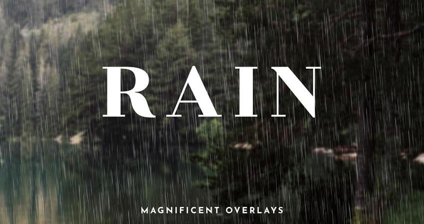 Hiệu ứng mưa phủ lên các hiệu ứng nhiếp ảnh