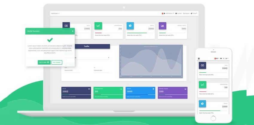 Vue Material Dizayn Bootstrap 4 Admin UI Kit Ffree