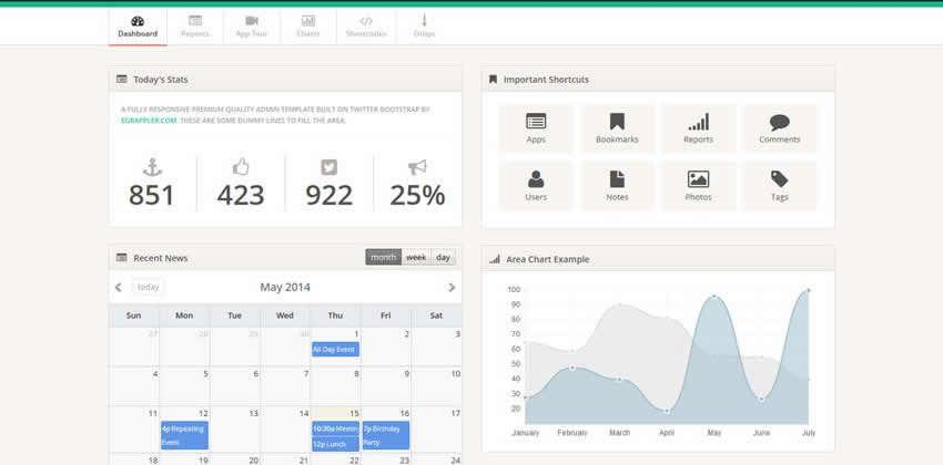 TemplateVamp Pulsuz Bootstrap Admin Şablon Kit UI pulsuz