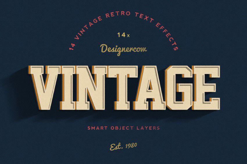 14-Vintage-Retro-Text-Effektləri