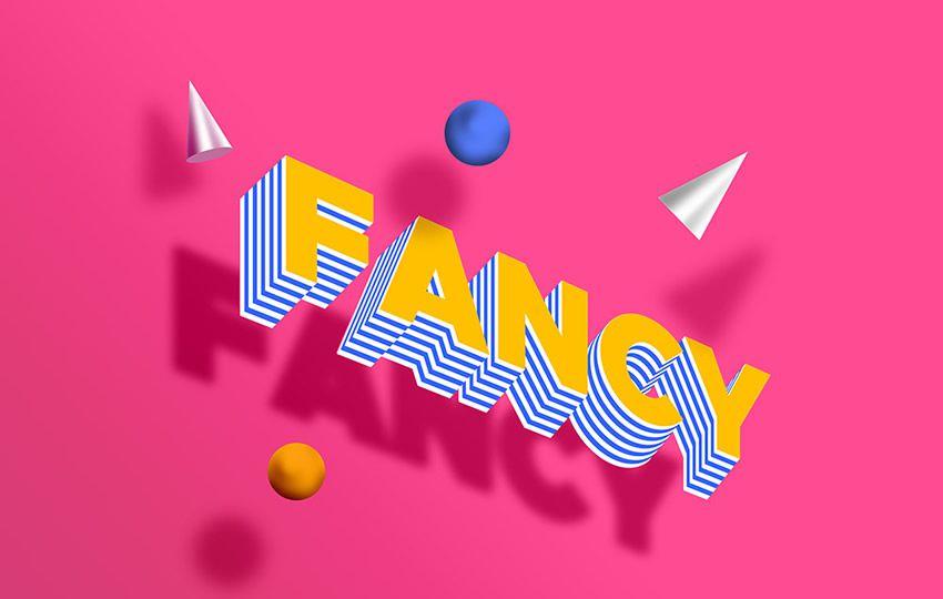 Pulsuz Photoshop Layer Effektləri PSD Fancy Text Effect