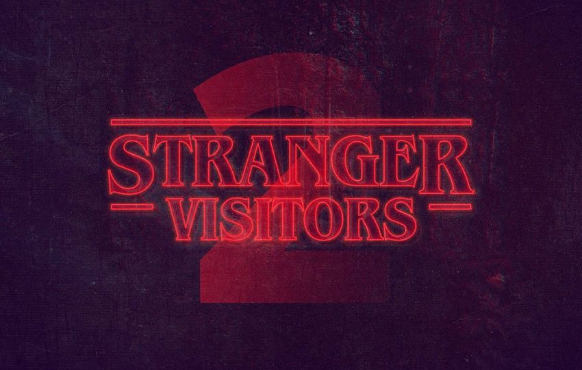 Pulsuz Stranger Things Photoshop Text Style Layer PSD
