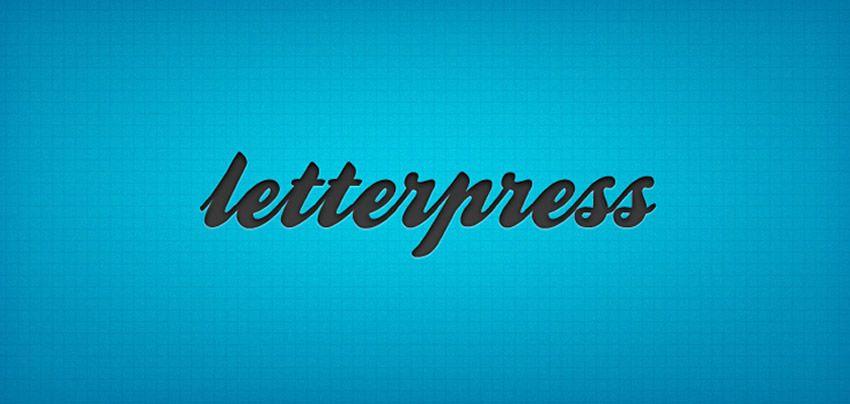 Photoshop Layer Styles Pulsuz PSD Photoshop Letterpress Mətn Effekt Şablonu