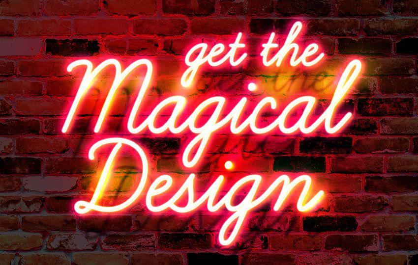 Pulsuz Photoshop Layer Effektləri PSD Divar Neon Parlaq Mətn effekti