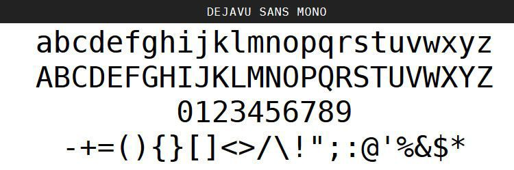 DejaVu Regular Oblique Bold pulsuz proqramlaşdırma kod şriftləri