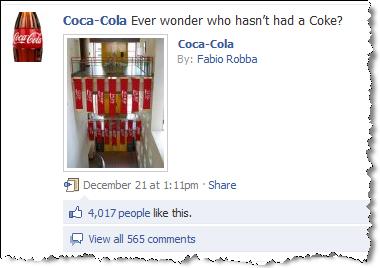 facebook-da coca-cola