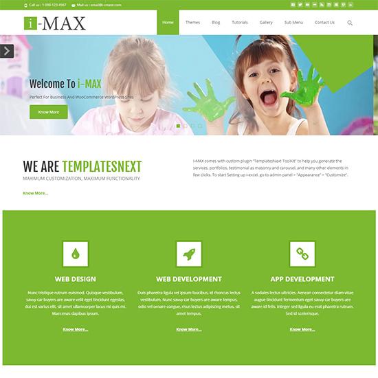 tema i-max elementor
