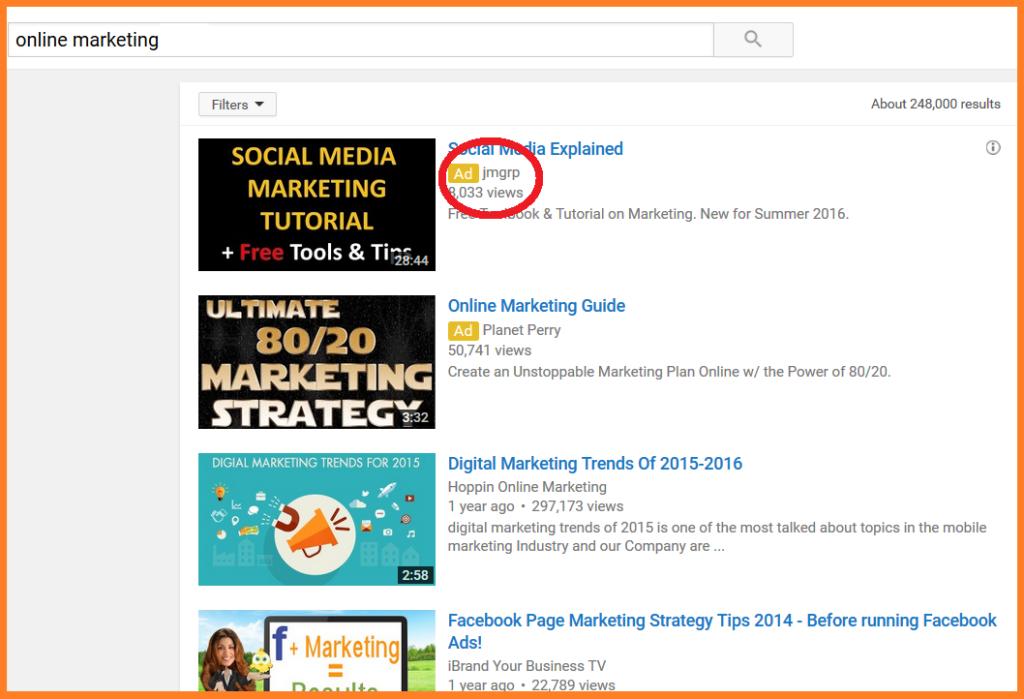 publicidad en internet anuncios de youtube