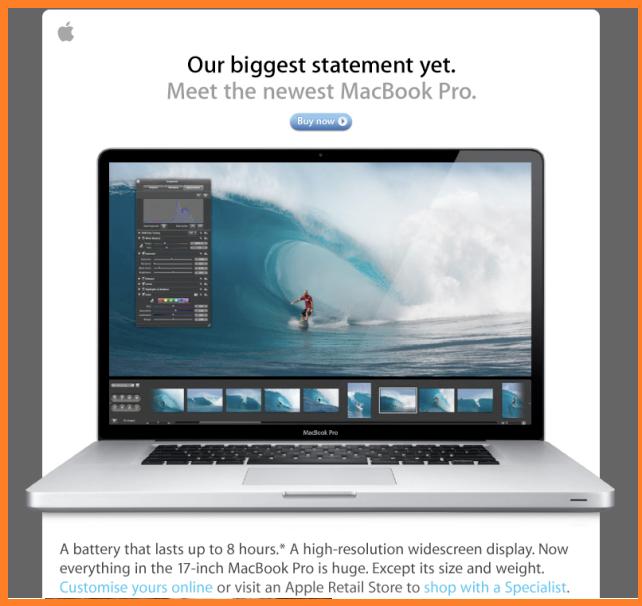 publicidad en internet marketing por correo electrónico de apple