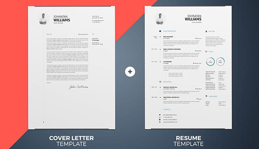 Sadə InDesign Word Resume Cover Letter Şablonu