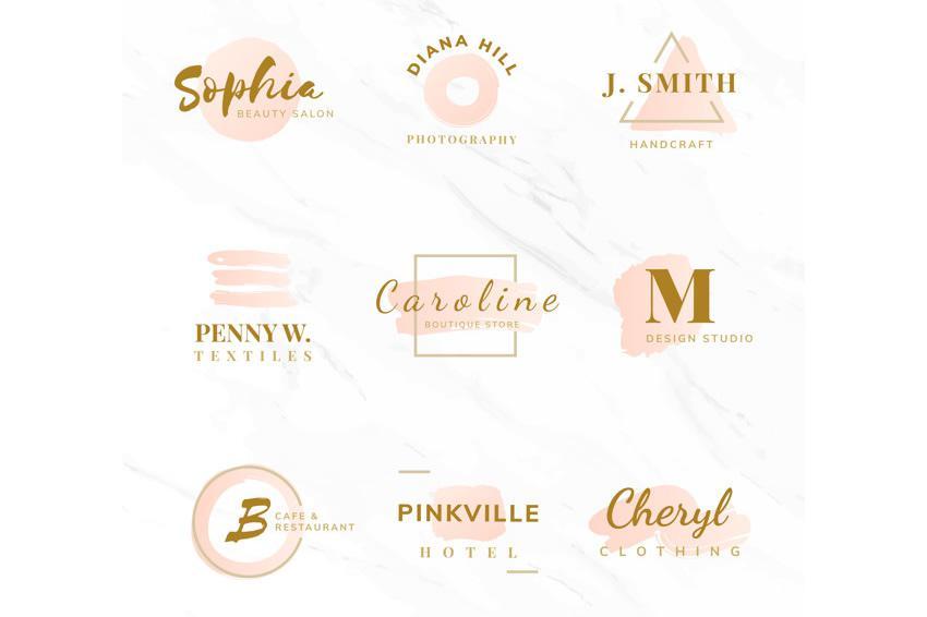 EPS gözəllik moda logo şablonları