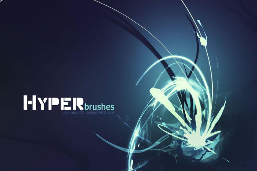 Hyper Light Streak effekti ilə pulsuz Photoshop fırçaları