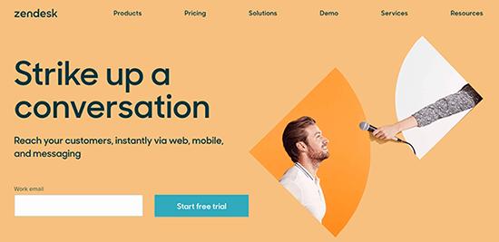 Softvér pre živé rozhovory Zendesk WPSS