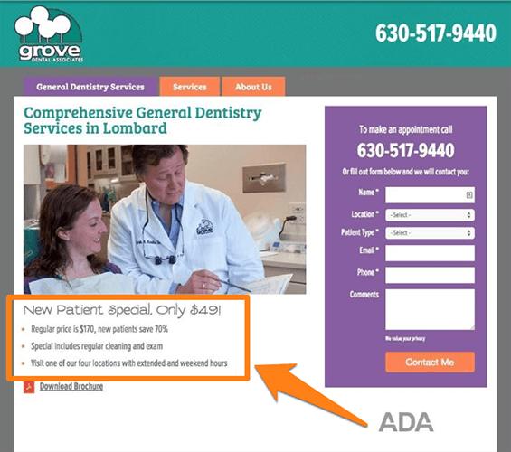 Aborda las objeciones específicas de la persona - clínica dental