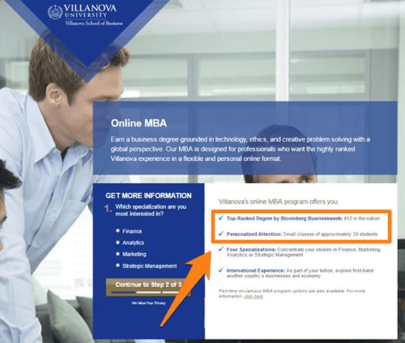 Aborda objeciones individuales - programa MBA en línea