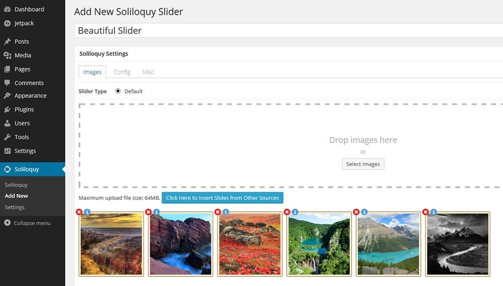 Thêm hình ảnh vào soliloquy