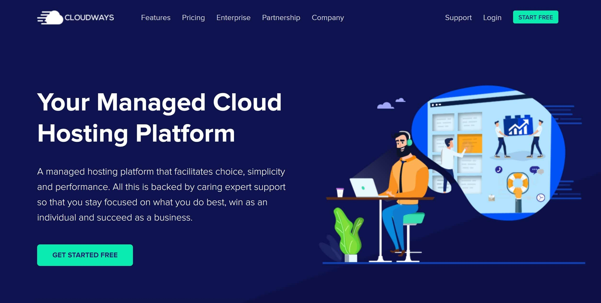 Joustava ja yksinkertainen WordPress-pilvipalvelu