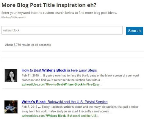 Título de blog inspirador