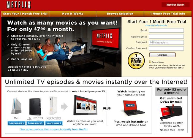 Cambiar posición según la persona: Nueva página de inicio de Netflix