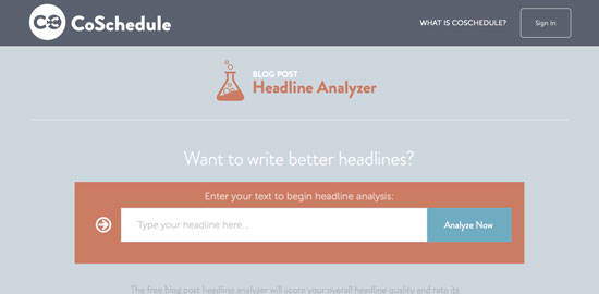 CoSchedule Title Analyzer