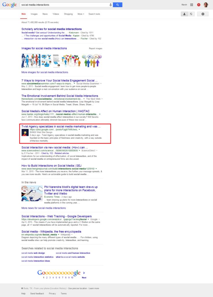 Google + Instantánea